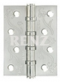 Петля RENZ DECOR FL 100-4BB FH SN никель матовый (цветы)