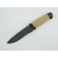 Охотничий нож Н1 из дамасской стали, кожа наборная, текстолит