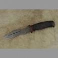 Охотничий нож Н21А из дамаска, микропористая резина, текстолит