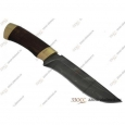 Охотничий нож Н2-Турция из дамасской стали, орех, латунь в золоте