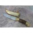 Охотничий нож Н5-Тифлис из стали ЭИ-107, наборная кожа, дюраль