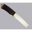 Нож подарочный Н1Т из стали ЭИ-107, береза, латунь в золоте