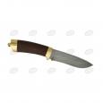 Нож подарочный Н6 из дамаска, орех, латунь в золоте