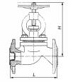 Клапаны запорные чугунные 15кч16п
