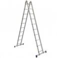 Лестница двухсекционная шарнирная Алюмет Т2 204