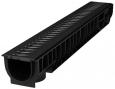 Лоток Ecoteck STANDART 100.125 h129 с решеткой пластиковой, кл.А15 2