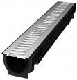 Лоток Ecoteck STANDART 100.125 h129 с решеткой пластиковой, кл.А15