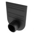 Заглушка-переходник для лотков пластиковых Стандарт 100.125 и 100.175 (черный)