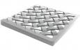 Решетка пластиковая усиленная к дождеприемнику (металлик)