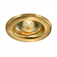 Встраиваемый светильник светильник IP20 GX5.3 50W 12V CLASSIC 369704 NT12 276 золото