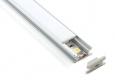 Встраиваемый напольный алюминиевый профиль  для светодиодной  лентыLL-2-ALP002