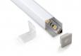 Квадратный угловой  алюминиевый  профиль для  светодиодной лентыLL-2-ALP003