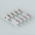 Комплект заглушек для встраиваемого напольного алюминиевого профиля для светодиодной ленты (10 пар)ZLL-2-ALP002