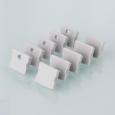 Комплект заглушек для накладного алюминиевого профиля для светодиодной ленты (10 пар)ZLL-2-ALP001-R