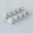 Комплект заглушек для углового алюминиевого профиля для светодиодной ленты (10 пар)ZLL-2-ALP004