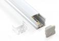 Накладной алюминиевый профиль для светодиодной лентыLL-2-ALP001-R