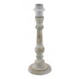 Основа для настольной лампы 1+1 VINTAGE, 1X60W (E27), ?120, H335, дерево, белый