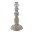 Основа для настольной лампы 1+1 VINTAGE, 1X60W (E27), ?125, H265, дерево, серый