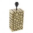 Основа для настольной лампы RIBADEO,  1x60W (E27), 120х100, H385, дерево, коричневый