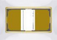 Рамка для двойной розетки WL03-Frame-01-DBL-white Белый / золото