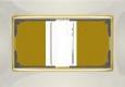 Рамка для двойной розетки WWL03-Frame-01-DBL-ivory-GD Слоновая кость / золото