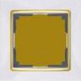 Рамка на 1 пост WL03-Frame-01-white-GD Белый / золото