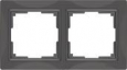Рамка на 2 поста WL03-Frame-02 Basic Серо–коричневый