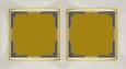 Рамка на 2 поста WL03-Frame-02-ivory-GD Слоновая кость / золото