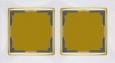 Рамка на 2 поста WL03-Frame-02-white-GD Белый / золото