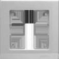 Рамка на 1 пост WL04-Frame-01 Серебряный