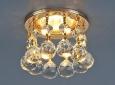 Светильник точечный с хрусталем2051-C FGD/Clear (золото / прозр. хрусталь)