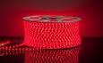 Светодиодная лента3528/60 LED 4.4W 220V IP65 красный свет