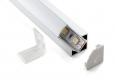 Угловой алюминиевый профиль для светодиодной  лентыLL-2-ALP004