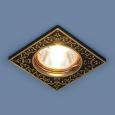 Точечный светильник120071 MR16 BK/GD черный/золото
