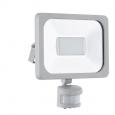 Уличный светодиодный светильник настенный FAEDO 1 с датчиком движ., 30W (LED), 205х235,  алюминий, серебряный/стекло
