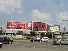 Экран на пересечении ул. Братьев Кашириных и ул. Северокрымская. Челябинск