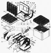 Сидение подрессоренное, комплект А 31.00.000-02 Т-130