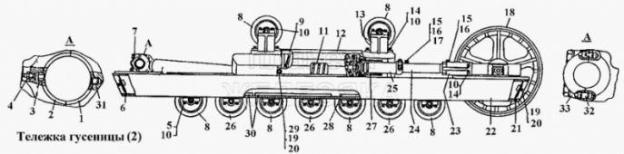 Тележки гусениц Т-170