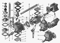 Механизм переключения передач для болотоходных тракторов 20-12-131СП-левый, 20-12-132СП-правый Т-130