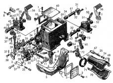 Механизм управления муфтой сцепления и горным тормозом Т-170