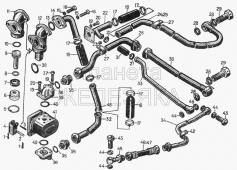 Гидравлическая система управления трактором для гидрофицированных тракторов 18-56-6СП, 48-56-2СП1 Т-130