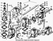 Механизм переключения передач Т-170