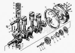 Кривошипно-шатунный механизм 51-03-1СП Т-130