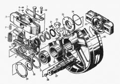 Колесо натяжное, комплект 24-21-146СП-правое, 50-21-138СП-левое (комплект 20-21-120СП для болотоходных тракторов) Т-130