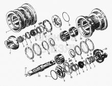 Каток однобортный, комплект 24-21-169СП Т-130