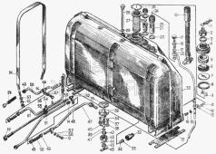 Установка топливного бака 18-25-5СП Т-130