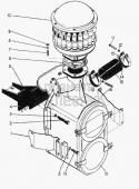 Установка воздухоочистителя 51-05-109СП Т-130