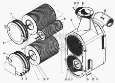 Воздухоочиститель, комплект 51-05-100СП Т-130