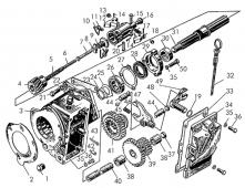 Редуктор пускового двигателя Т-170