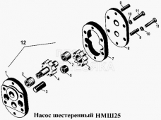 Насос шестеренный НМШ25 Т-170